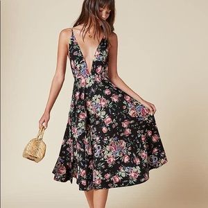 Reformation Naya dress in Bloom XS flawless